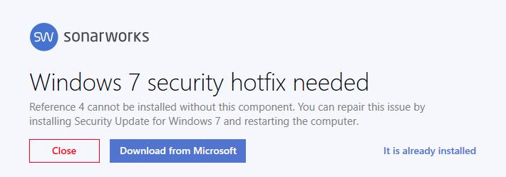 Security Update issue on Windows 7 – Sonarworks FAQ