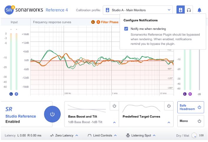 Render bypass notification – Sonarworks FAQ